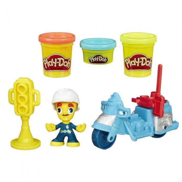 Игровой набор Play-Doh Town Полицейский мотоцикл B5959