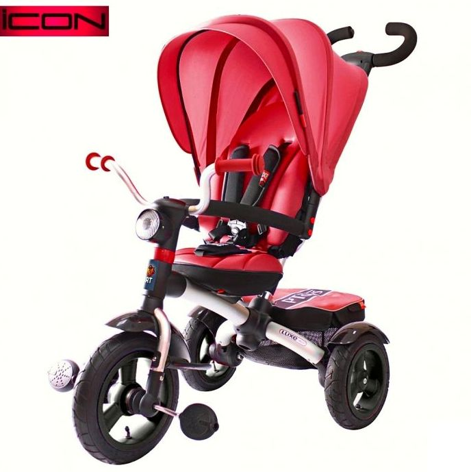 Велосипед VIP TRIKE LUXE DARK RED Aluminium cherry с поворотным сиденьем