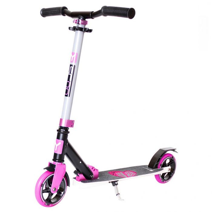 Самокат Y-scoo RT 145 City Family design Butterfly pink розовый