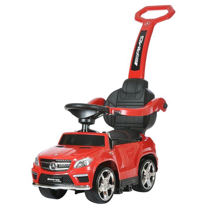 Детская машинка с ручкой Mercedes Benz свет, звук, A888AA-M красный