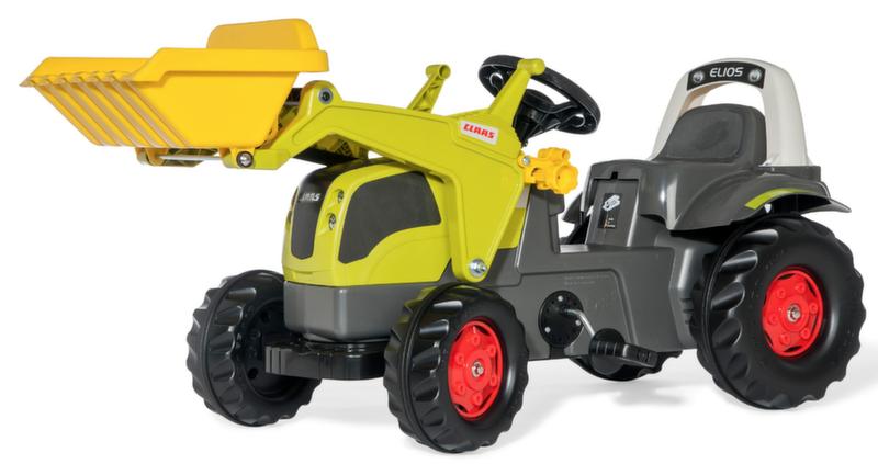 Детский педальный трактор с ковшом rollyKid CLAAS Elios 025077 от 2-х лет