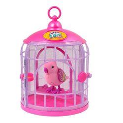 Интерактивная игрушка Little Live Pets Птичка в клетке 28223_розовый