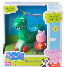 Peppa Pig Cвинка Пеппа набор Каталка динозавр с фигуркой 31012