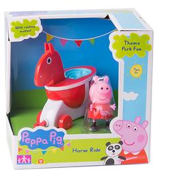 Peppa Pig Свинка Пеппа набор Каталка лошадка с фигуркой 31011