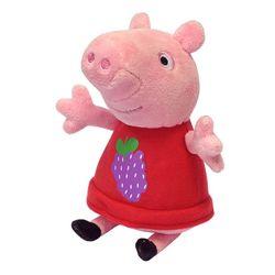 Мягкая игрушка Свинка Пеппа с виноградом Peppa Pig 20 см 29621