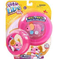 Интерактивная мышка Little Live Pets гонки в колесе 28173 розовая