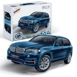 Конструктор BMW X5 сборная модель 1:28 синий 6803-1