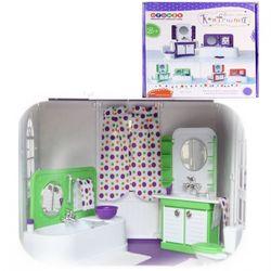 """Ванная комната для кукол """"Конфетти"""", завод игрушек Огонек 1333 зеленая"""