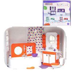"""""""Конфетти"""" ванная комната для кукол завод игрушек Огонек 1333 оранжевая"""