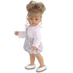 Antonio Juan реалистичная кукла Белла в меховом розовом балеро 45см 2802P