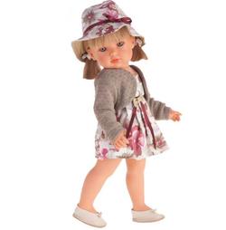 Antonio Juan реалистичная кукла Белла блондинка в шляпке 45см 2808P