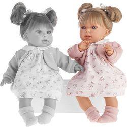 Реалистичная кукла Лорена в белом, говорящая 37см  Антонио Хуан 1558W