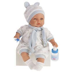 Антонио Хуан кукла ребенок София в голубом костюме, говорящая 37см 1442B