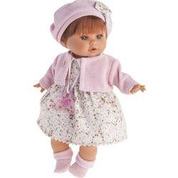Реалистичная кукла младенец Кристиана озвученная, одежда в розовом цвете 30см 1338P