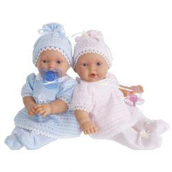 Антонио Хуан интерактивная кукла младенец Лана в розовом костюмчике, 27см плачет 1109P