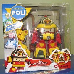Робокар Поли трансформер Рой с костюмом пожарного в наборе 83314