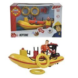 Пожарный Сэм Лодка со спасателем 20см Dickie 9251660