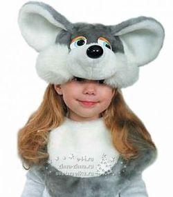 Костюм мышки шапка и манишка рост 98 -136 см Р5042