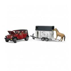 Брудер Внедорожник Jeep Wrangler Unlimited Rubicon Bruder c прицепом-коневозкой 02-926