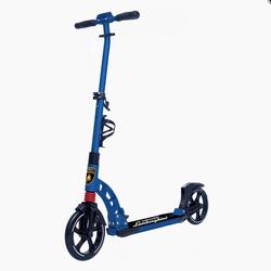 Самокат двухколесный Ламборджини  колеса 230/200мм с амортизаторами LS5 синий