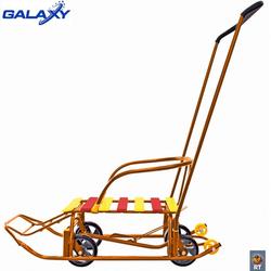 Санки с колесами Снегомобиль Snow Galaxy Black Auto оранжевый