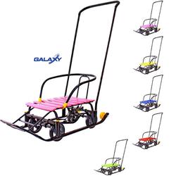 Санки с колесами Снегомобиль Snow Galaxy Black Auto