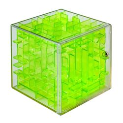 Головоломка Куб Лабиринтус 6см зеленый LBC0002