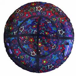 Санки ватрушка Люкс Звезды 105см