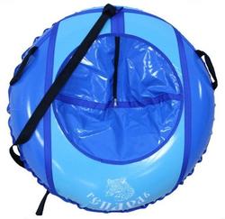 Санки ватрушка Гепард сине-голубой 80 см