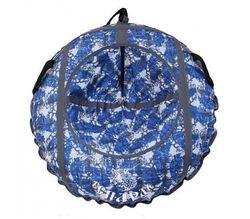 Санки ватрушка Гепард синий 80 см