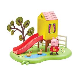 Peppa Pig Свинка Пеппа на плошадке горка с домиком 31607