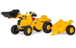 Трактор педальный с прицепом и ковшом rollyKid CAT от 2-х лет 023288