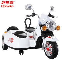 Детский электромотоцикл с коляской Harley-Davidson SX 138 белый