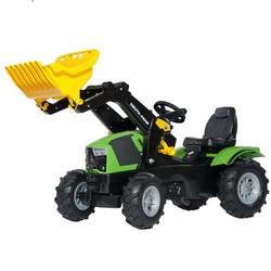 Детский трактор педальный с ковшом и надувными колесами rollyFarmtrac Deutz-Fahr 5120 611218 от 4-х лет