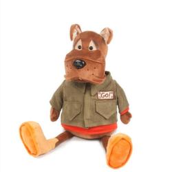Мягкая игрушка Бульдог Рокки в куртке 23 см Maxitoys  MT-111614-23