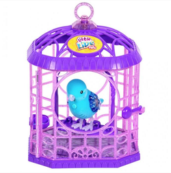 Интерактивная птичка в клетке Little Live Pets  28351 голубая
