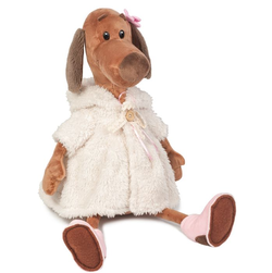 Мягкая игрушка Собачка Ксюша в белой шубке 45 см MT-111602-36S