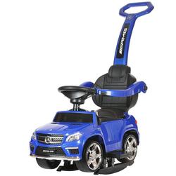 Детская машинка каталка-качалка с ручкой Mercedes Benz свет, звук,  A888AA-M синий