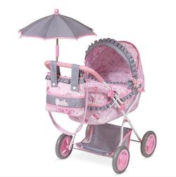 """Коляска для кукол  """"Мария"""" с зонтом и сумкой 85017"""