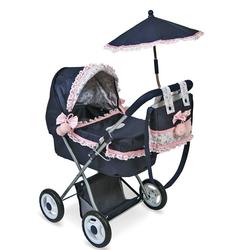 """Коляска для кукол с сумкой и зонтом """"Романтик"""" 85014"""