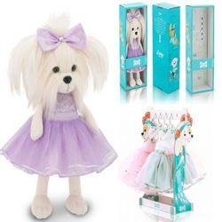 Мягкая игрушка Собака Мальтезе Сирень Lycky Mimi 35 см Lucky Doggy Оранж LD004