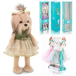 Мягкая игрушка Собака Йорк Роскошь Lucky Yoyo 35 см Lucky Doggy Оранж LD005