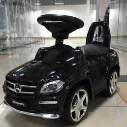 Каталка  Mercedes Benz GL63 AMG  свет, звук, кожаное сиденье SXZ1578/A888AA-D черный