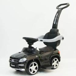 Аккумуляторная машинка каталка толокар Mercedes Benz свет, звук, кож.сиденье A888AA-H / 1578 черная