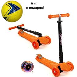 Самокат трехколесный TRIUMF Active складной со светящимися колесами SKL-07 CL оранжевый