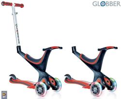 Самокат GLOBBER EVO 5 in 1 с 3 светящимися колесами Red