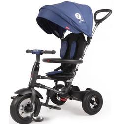 Трехколесный складной велосипед Q Play с надувными колесами  QA6J  синий