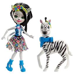 Энчантималс кукла Зелена и ее большой питомец зебра Хофитти FKY75