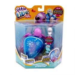 Интерактивная игрушка Черепашка Снежный бриз с друзьями Little Live Pets  28560
