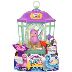 Интерактивная птичка в клетке - домике, со светящимися крылышками Радужный Свет Little Live Pets 28547/F